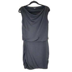 Theory 4 Silk Draped Ruched Bottom Mini Dress